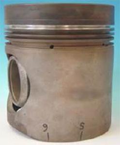 A reconditioned piston
