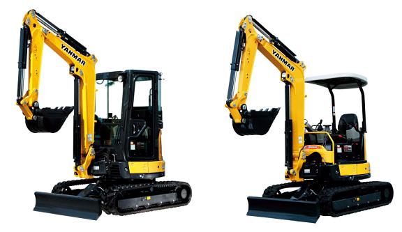 左:ViO30-6キャビン仕様、右:ViO30-6キャノピー仕様
