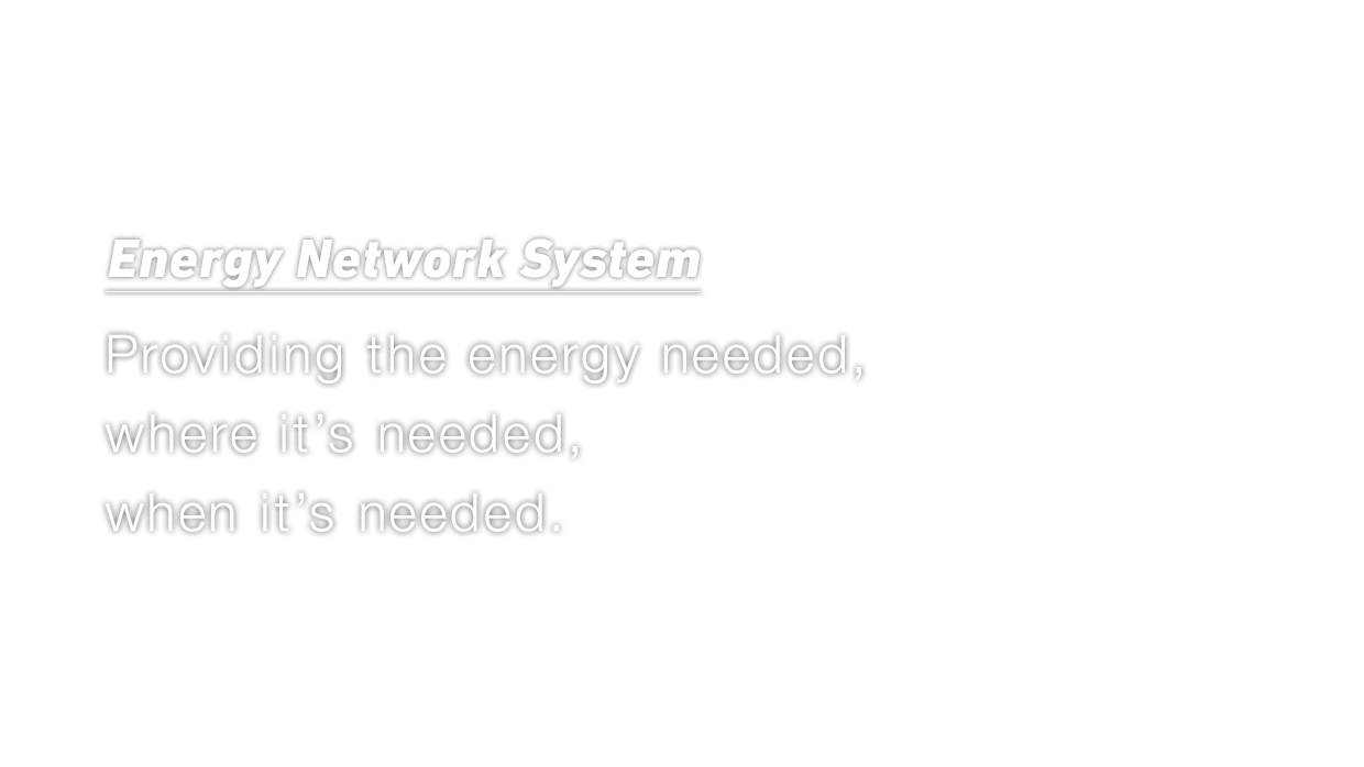Energy Network System System Providing the energy needed,where it's needed,when it's needed.