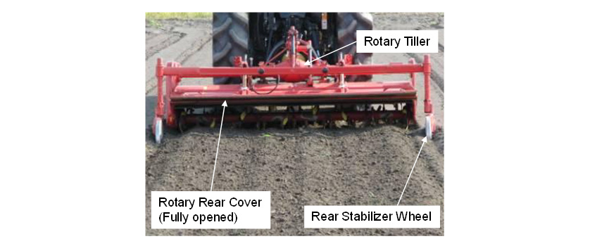 Fig. 2 Rotary tiller performance test