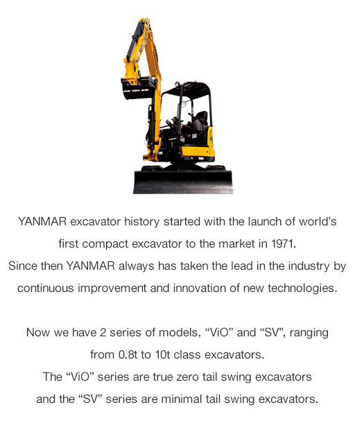 Excavators|Construction|YANMAR