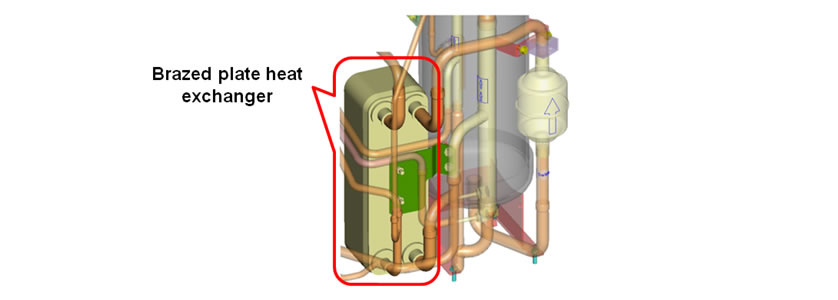 Refrigerant/Refrigerant Heat Exchanger (25 and 30HP)