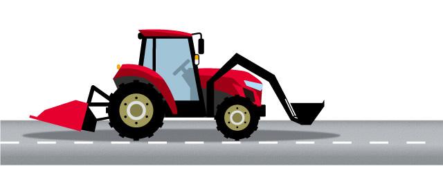 公道 トラクター 農作業機を装着・けん引した農耕トラクタの公道走行について