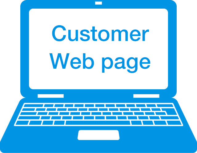 Customer Web page