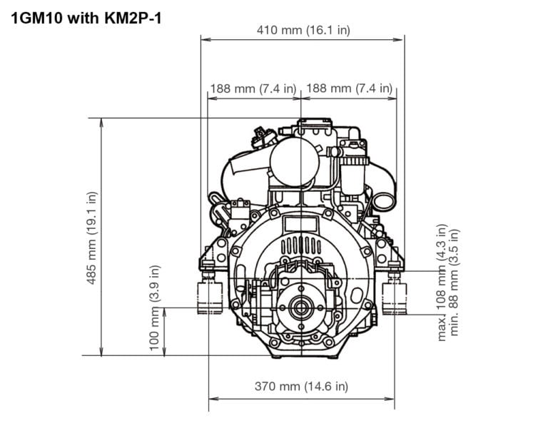 1GM10 with KM2P-1 rear drawing