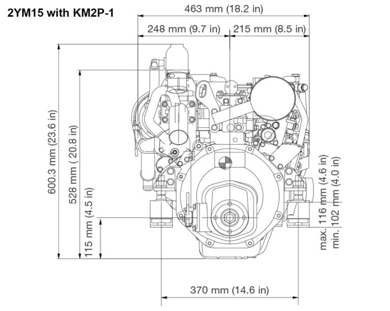 2YM15 with KM2P-1 rear drawing