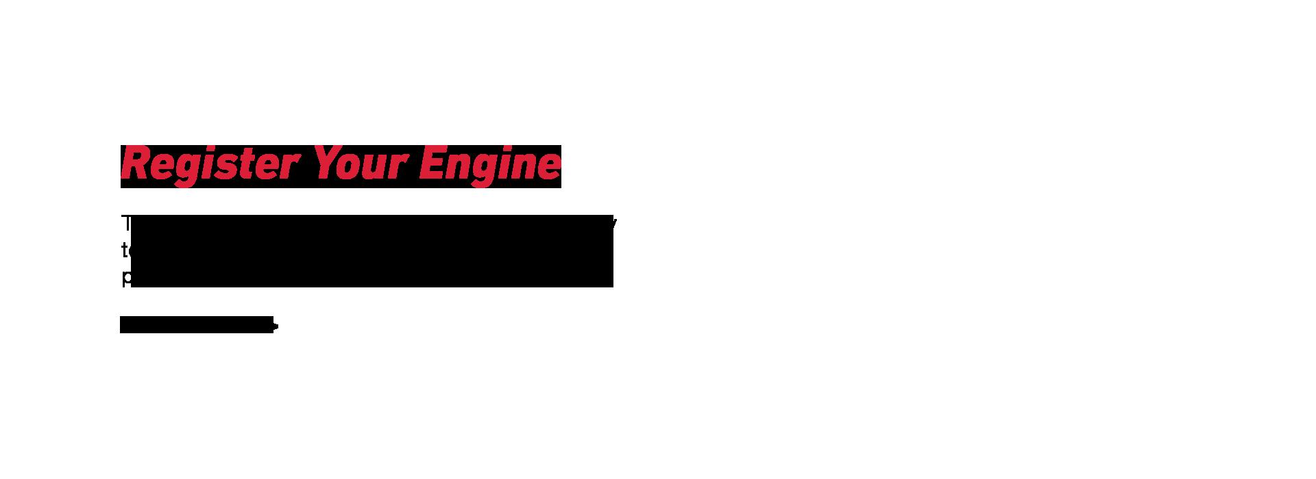 Register your engine