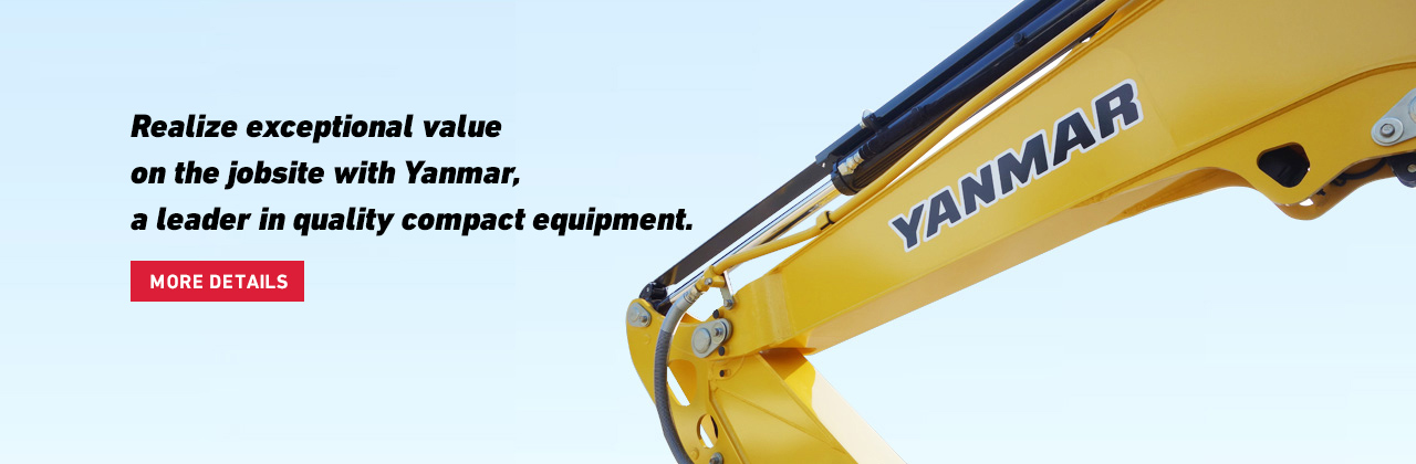 Realize exceptional value on the jobsite with Yanmar, a leader in quality compact equipment.