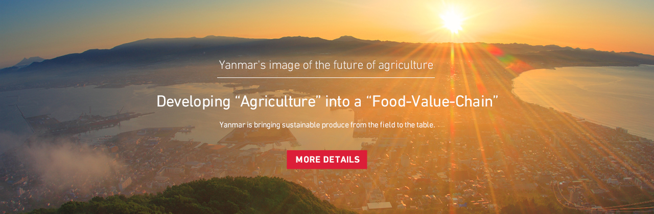"Developing ""Agriculture"" into a ""Food-Value-Chain""Yanmar is bringing sustainable produce from the field to the table."