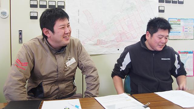 左:加藤大輔、右:工藤さん担当。二人三脚で密苗に取り組まれた。