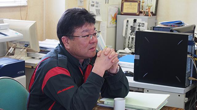 「今後も密苗を導入する農家が増えてくると思います」と、JA秋田おばこ営業担当の加藤仁さん。