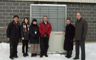 YANMAR Installs First Gas Heat Pump in Canada